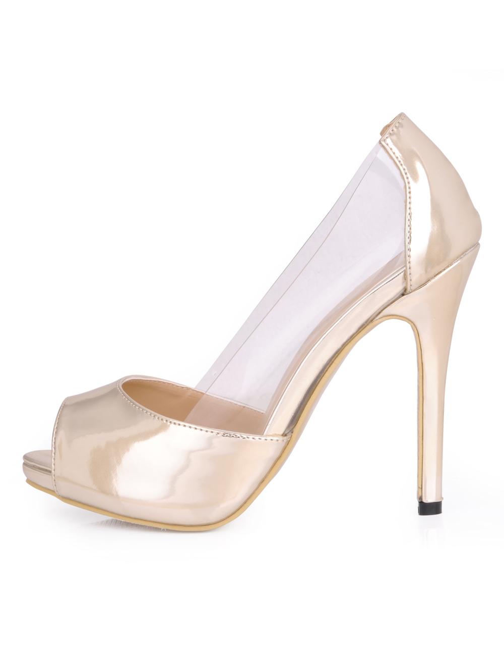 Peep High Heels Pumps Women's Stiletto Heels