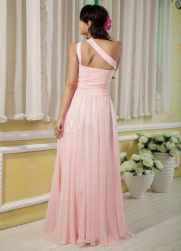 Rosa Glitter Halter Beading Chiffon Elástico Tecido Cetim Vestido De Baile
