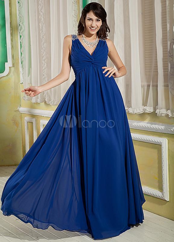 Vestidos noche azul real