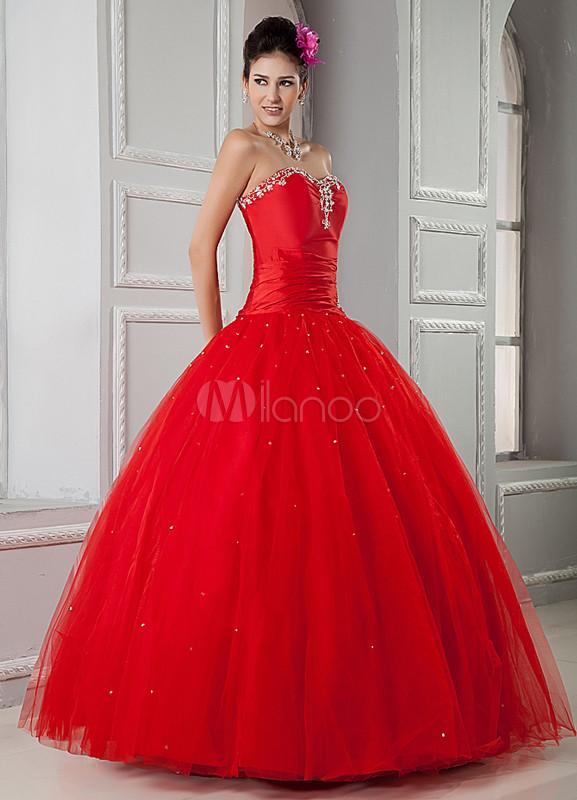 Vestito Matrimonio Uomo Rosa : Abito festa anni rosso floreale con collo a cuore