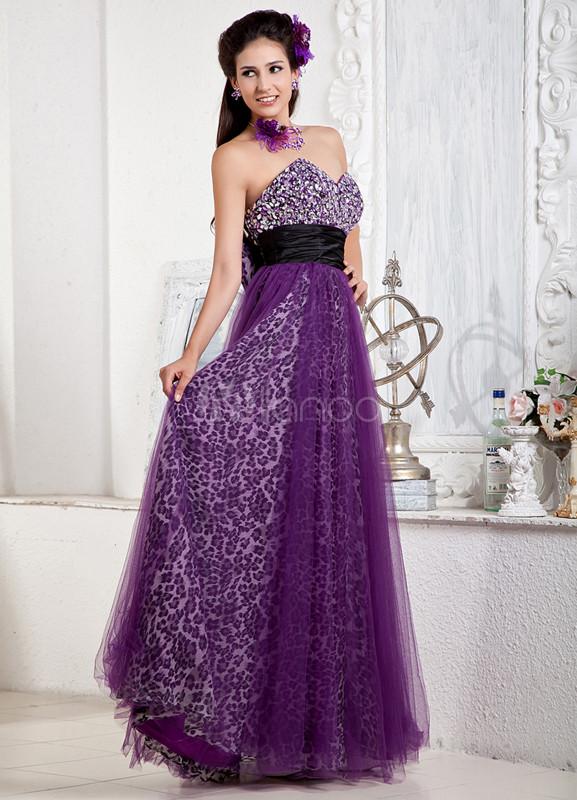 Grape Purple Prom Dresses