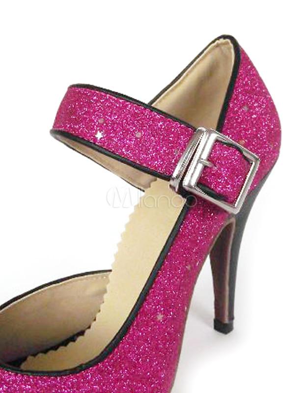 Zapatos de bailes latinos con lentejuela fucsia eM3mxsAeVz