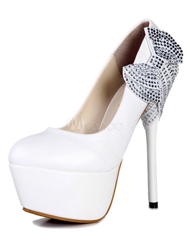 Zapatos peep toe de novia de seda y satén blanco con lazo de estilo dulce  Verde (Green 4) BPERPjJdKE