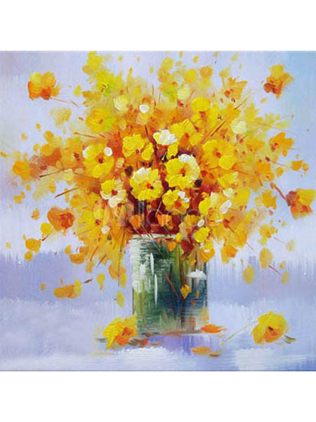 Nice yellow flower canvas hand painted oil painting milanoo nice yellow flower canvas hand painted oil painting no1 mightylinksfo