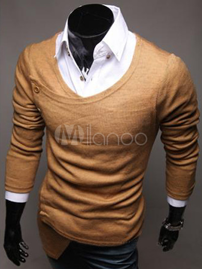 tricoter col v