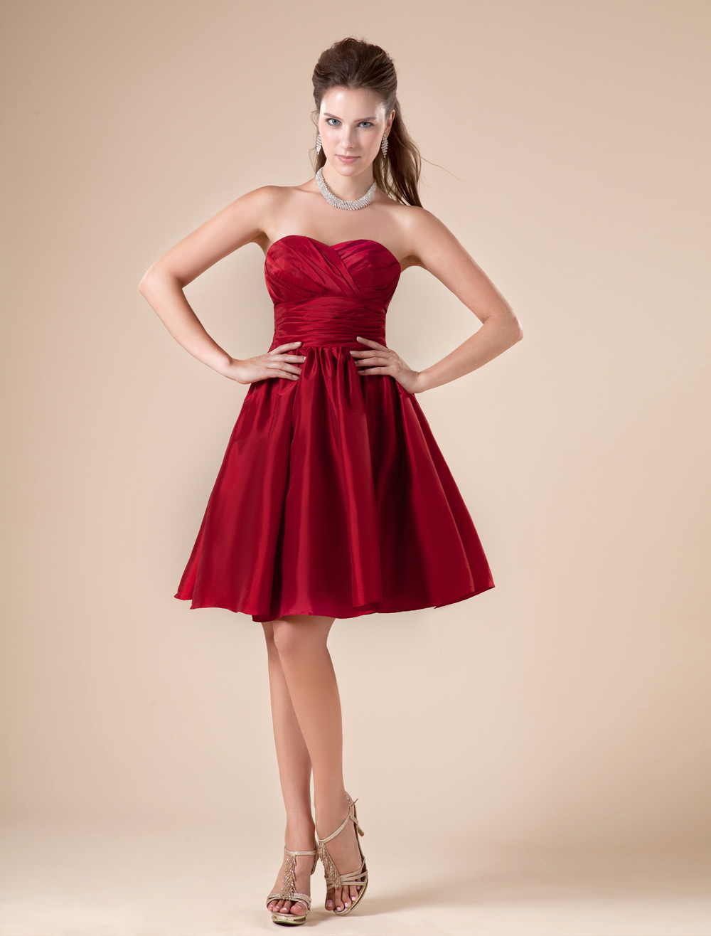 Knee Length Bridesmaid Dress