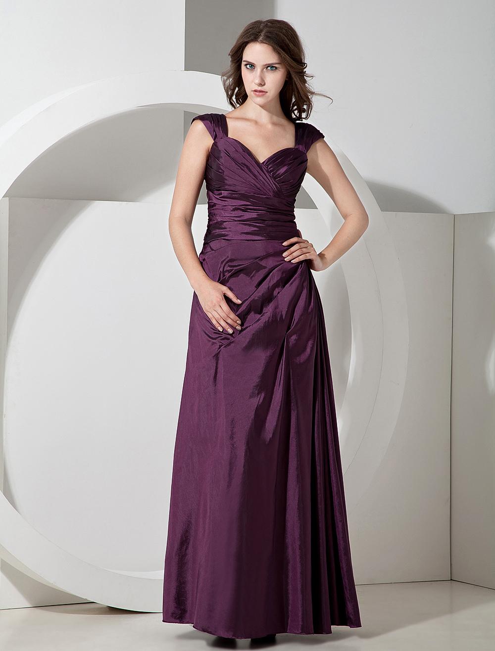 Floor Length Sweetheart Bridesmaid Dress