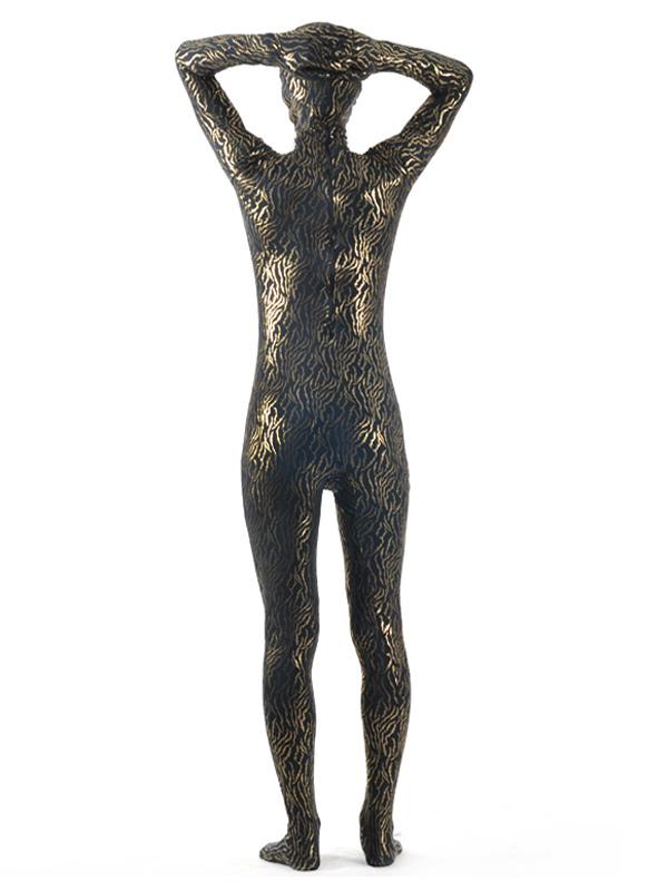 03319bd37ba7 ... Abbigliamento mimetico collant multicolore completo a strisce artistico  lycra spandex per adulti unisex Carnevale-No ...