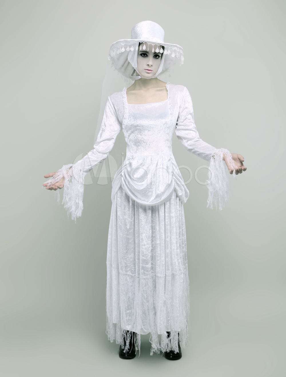 halloween zombie costume white medieval costume cosplay halloween. Black Bedroom Furniture Sets. Home Design Ideas