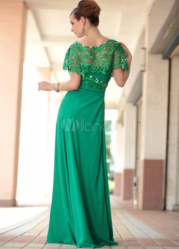 Vestido verde de cetim