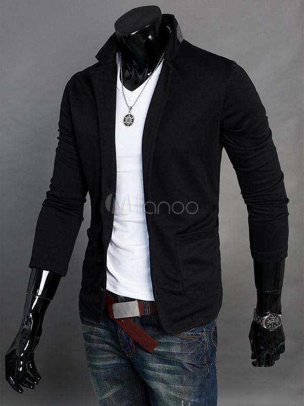 Veste coton noire homme