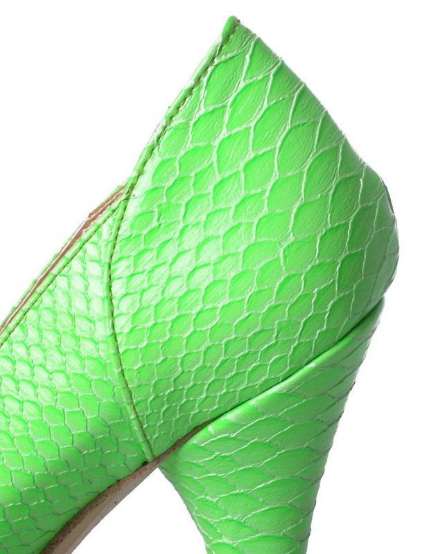 Talon À Aigu Serpent Plateforme Escarpins Motif Verts WY9DHIE2