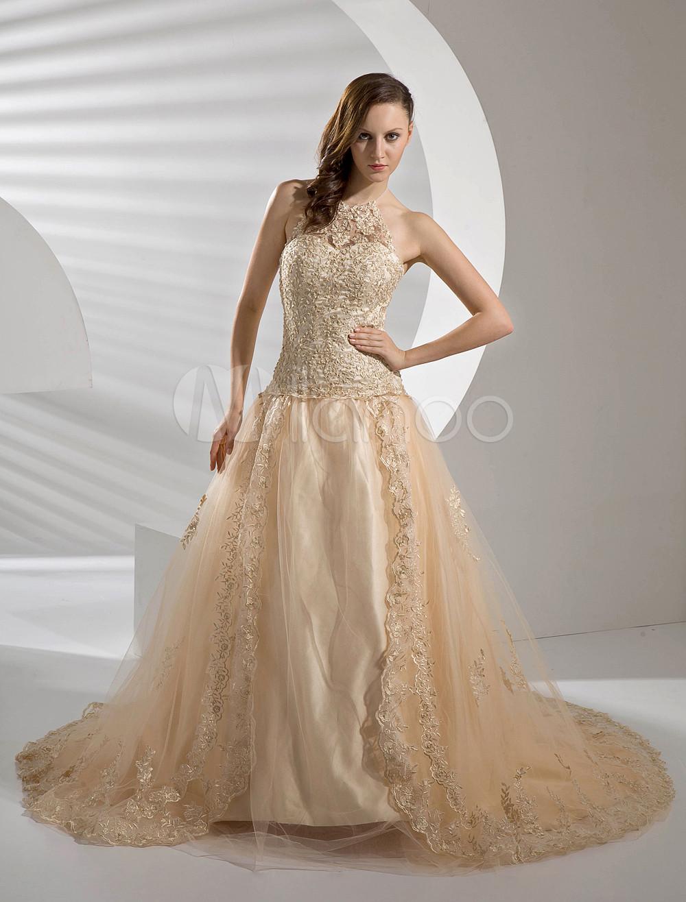 robe de mariee champagne