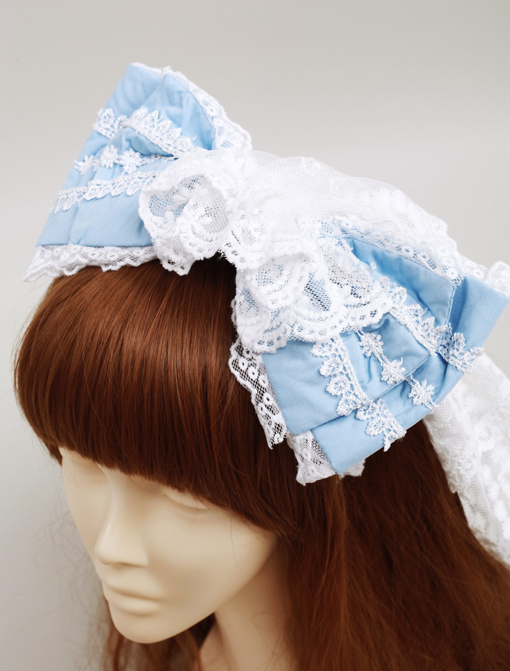 Buy Blue Cotton Sweet Lolita Bow Headdress for $19.19 in Milanoo store
