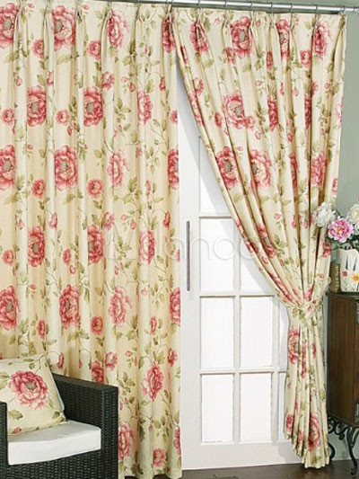 Tende A Fiori.Extra Large Country Stile Fiore Print Poliestere Blackout Tenda