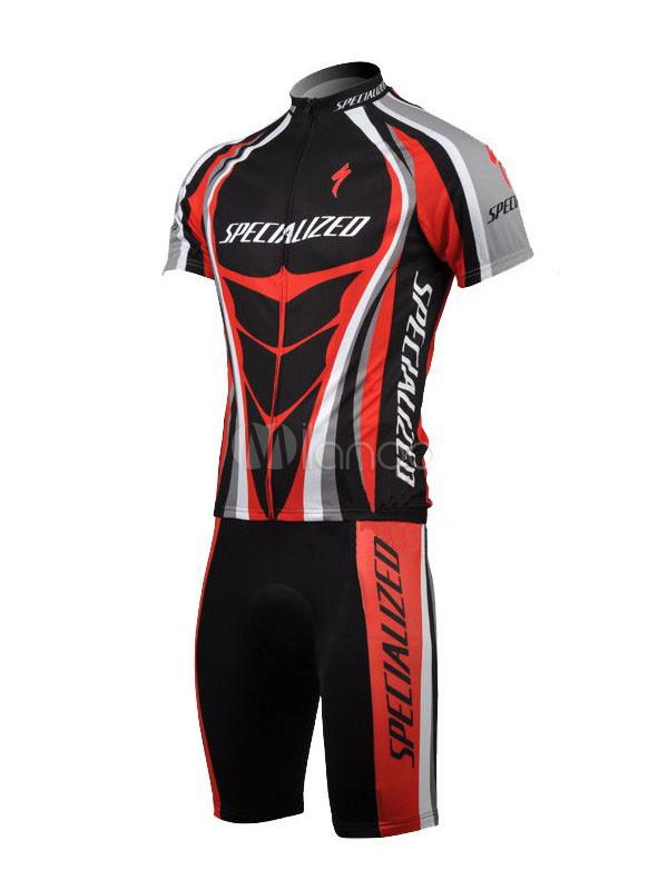 27db7ffc6a Ropa para ciclistas de elastano de color rojo con manga corta -No.1 ...