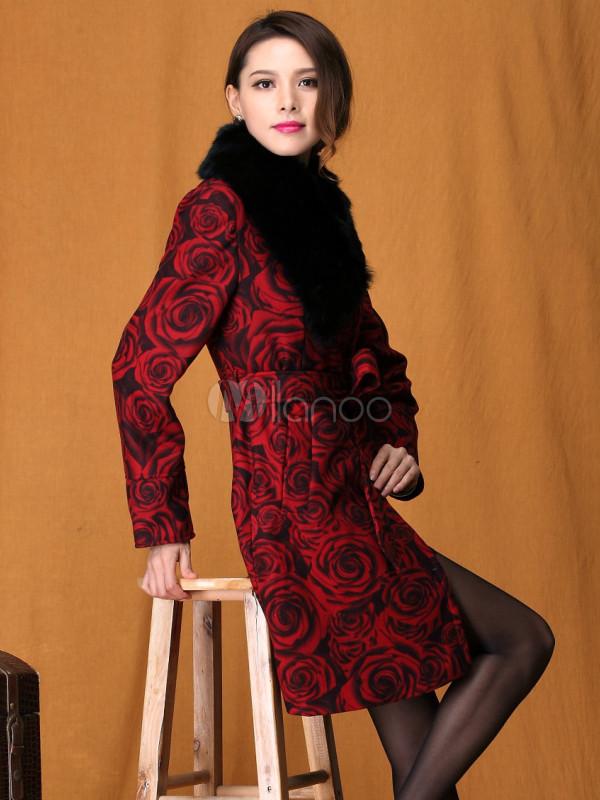 Beau manteau rouge femme