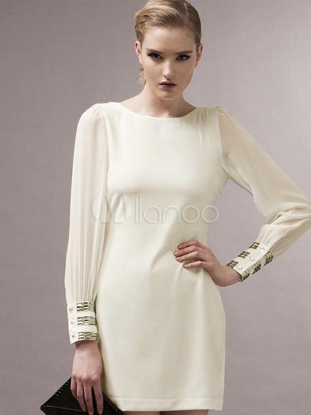 Robe beige longue