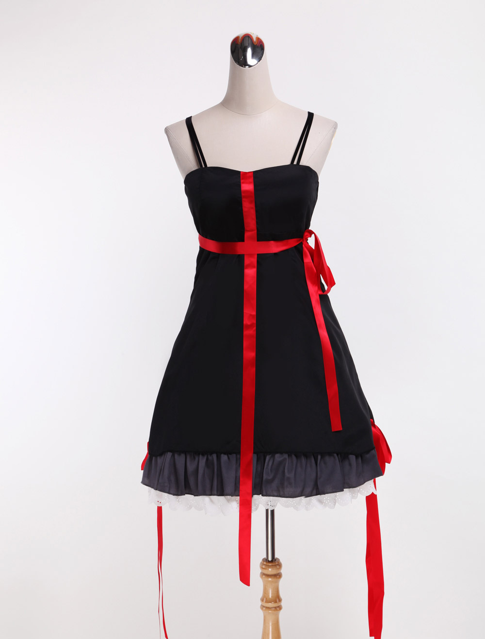 Guilty Crown Yuzuriha Inori Halloween Cosplay Costume Little Black Dress Halloween