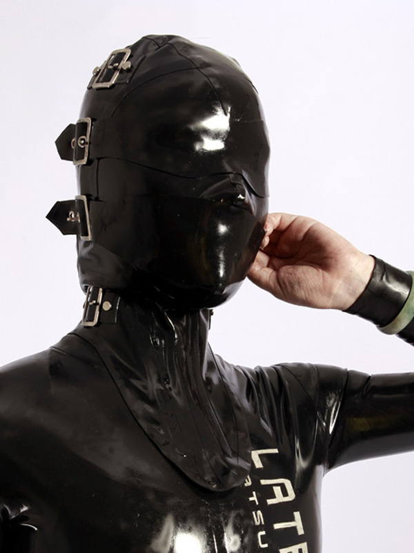 Halloween Black Buckle Unisex Catsuits & Zentai Hood Halloween