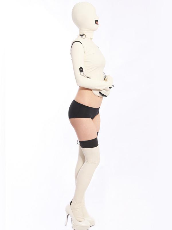 Halloween Sexy White Women's Latex Set Halloween