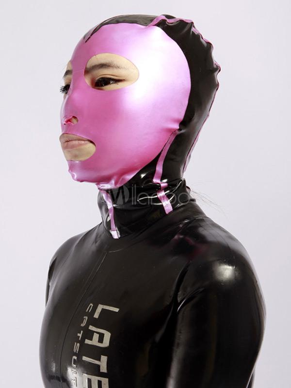 Halloween Color Blocking Latex Unisex Catsuits & Zentai Hood Halloween