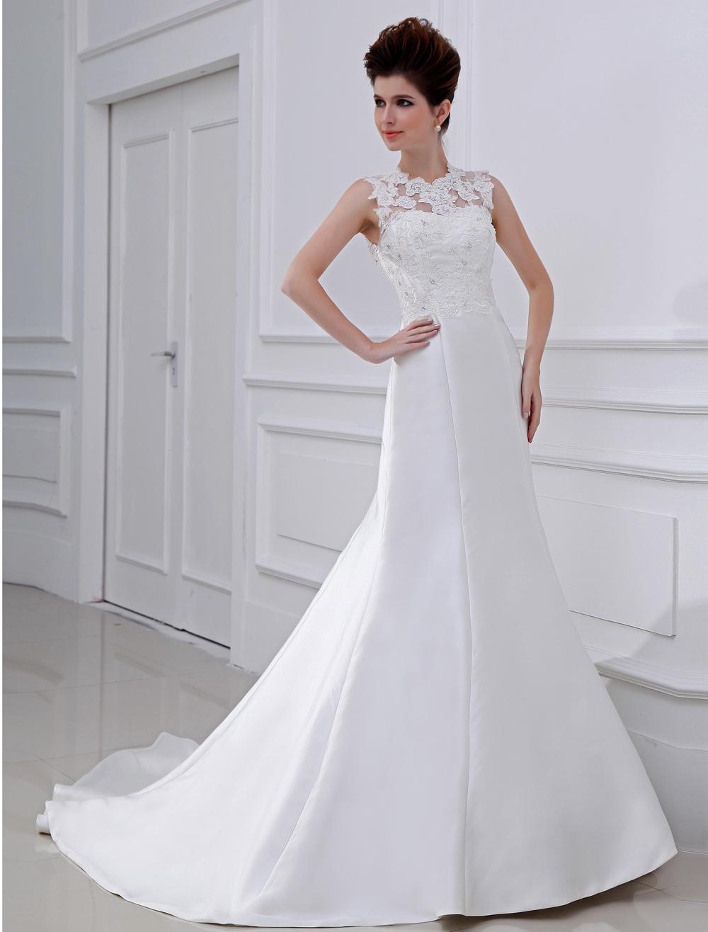 Glamorous Mermaid Sequin Taffeta White Bridal Wedding Gown
