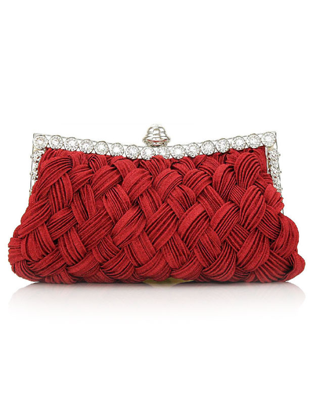 Satchel Shape Silk Evening Bag