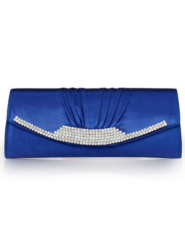 Satchel Shape Glitter Silk Evening Bag for Woman