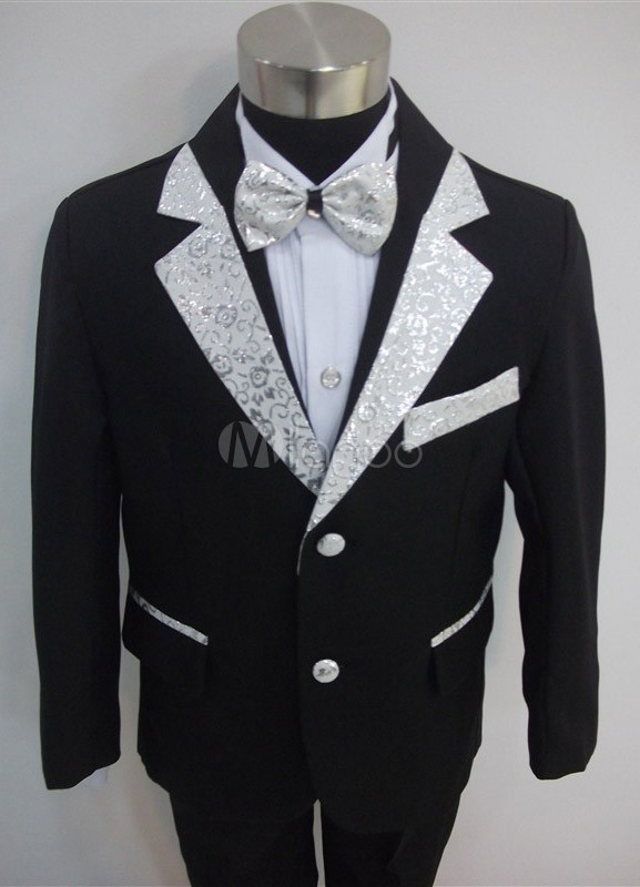 Formal Black Synthetic Ring Bearer Suits