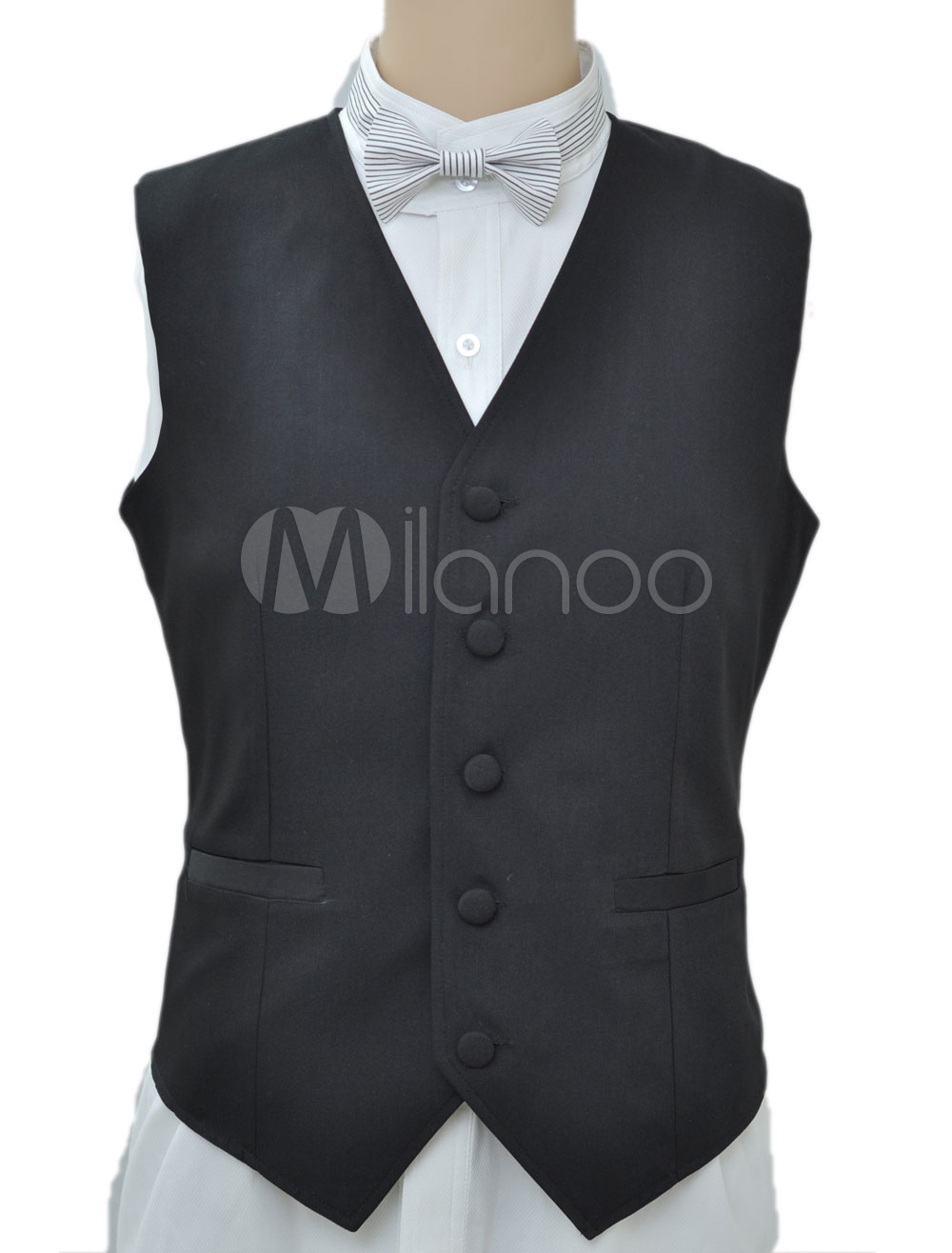 Buy Steampunk Vintage Costume Black Waistcoat Men's Back Strap Retro Suit Vest Halloween for $57.99 in Milanoo store