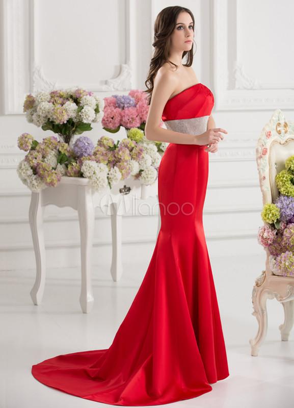 Robe soiree dentelle rouge courte