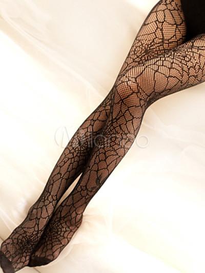 16d089f53bb2f Sexy Strumpfhose in Schwarz aus Lycra Spandex mit Spinnennetz