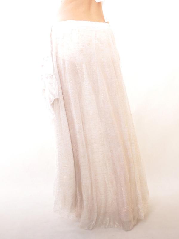 super popular 48f43 9ea69 Grazia bianco elastico seta come raso danza del ventre gonna lunga