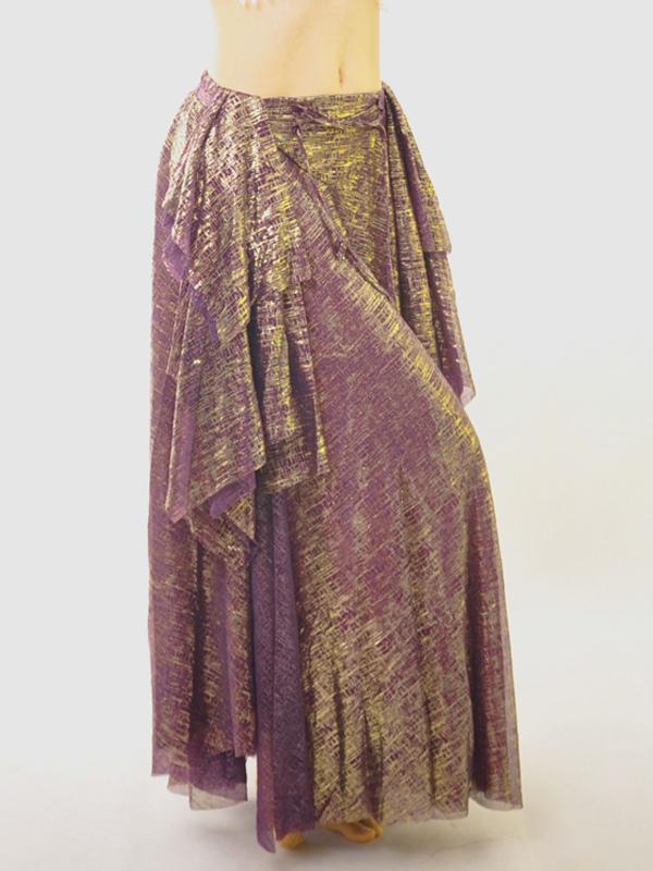 Skirt Belly Dance Costume Halloween Purple Elastic Bollywood Dance Bottom
