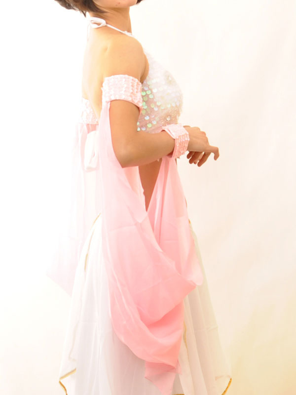 Charming Pink Polyester Belly Dance Armwear