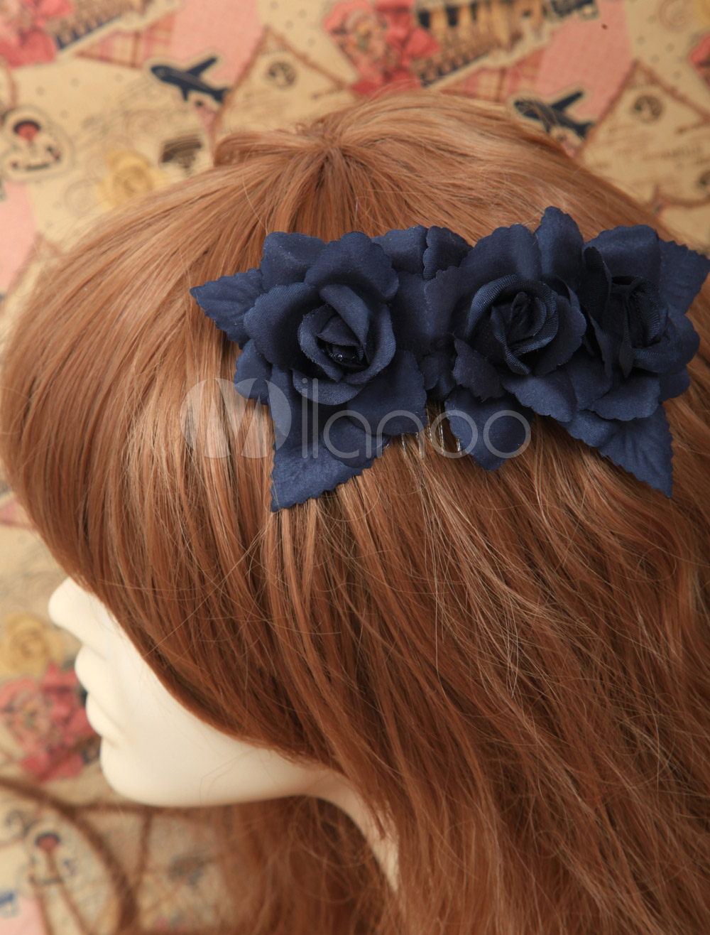 Buy Classic Three Flowers Decorated Cotton Lolita Hair Tie for $15.99 in Milanoo store