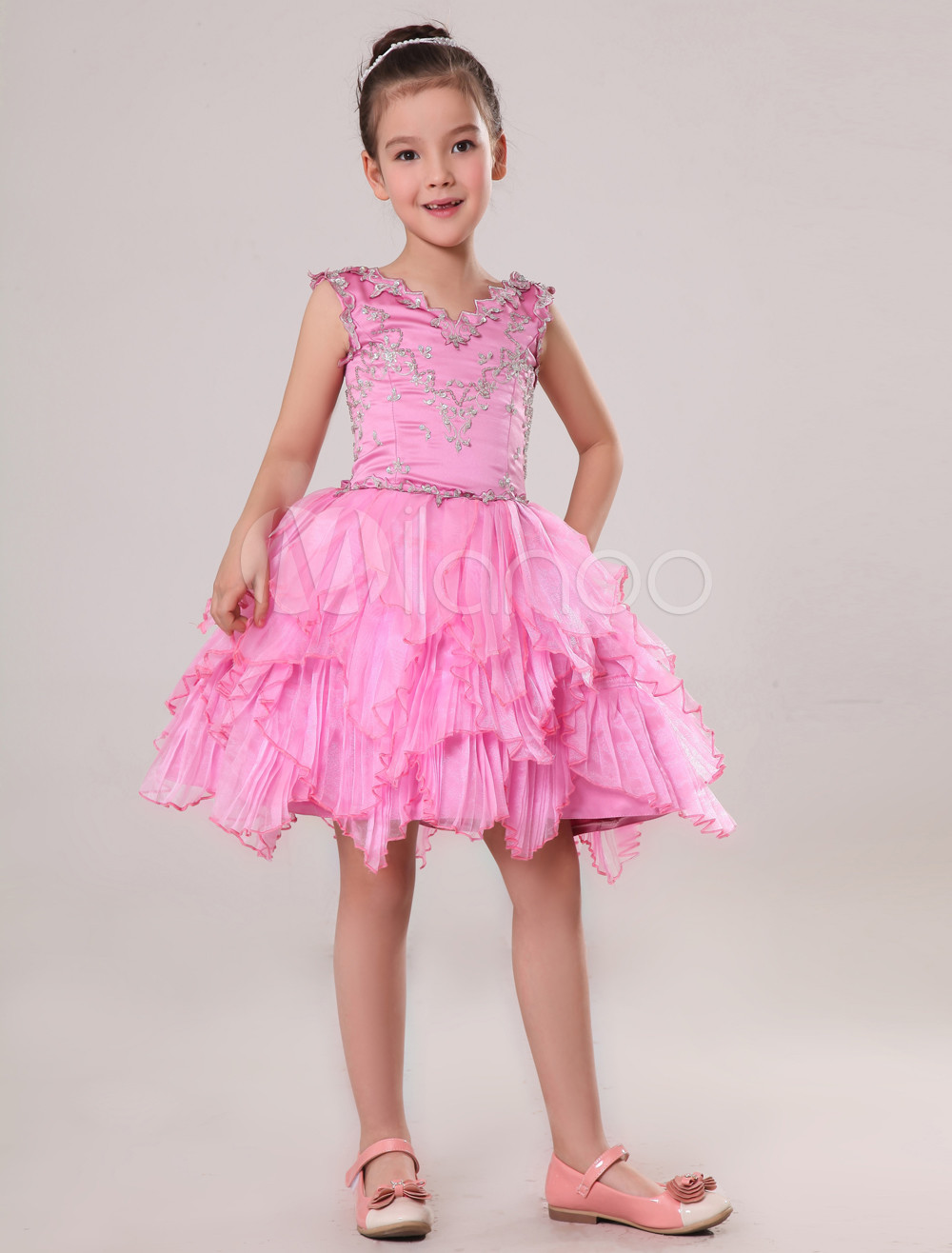 Encantador Vestidos De Dama Niñas Fotos - Colección de Vestidos de ...