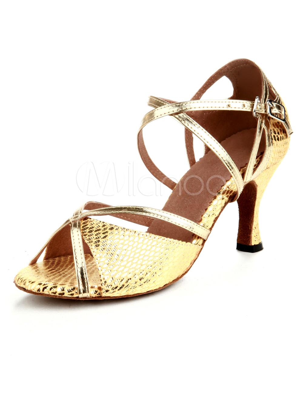 Zapatos de bailes latinos de PU dorado Footlocker Barato Online fVWI9I