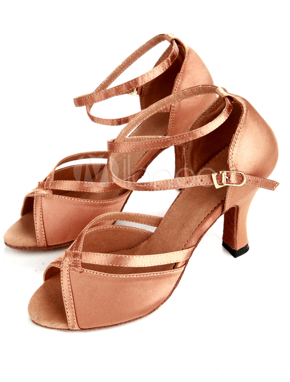 Tradition Bronze Satin Women's Latin Dance Shoes