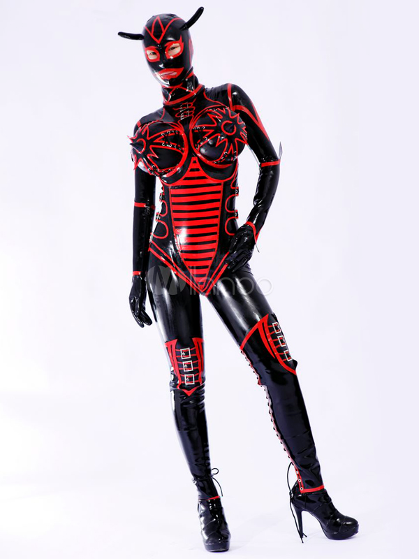 Halloween Multi Color Unisex Bodysuit Latex Catsuits Halloween