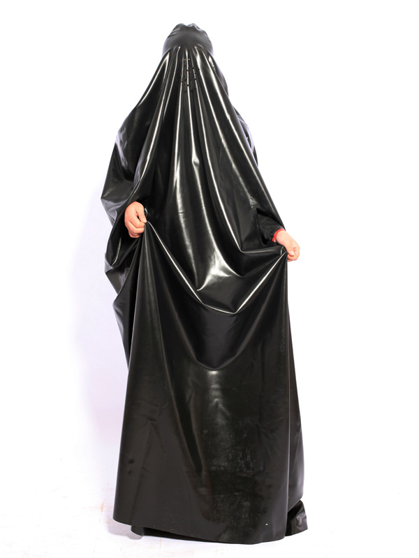 Halloween Stylish Black Unisex Latex Robe Halloween