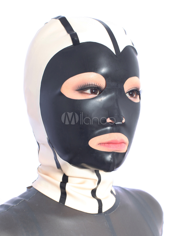 Halloween Stylish Multi Color Unisex Latex Hoods Halloween