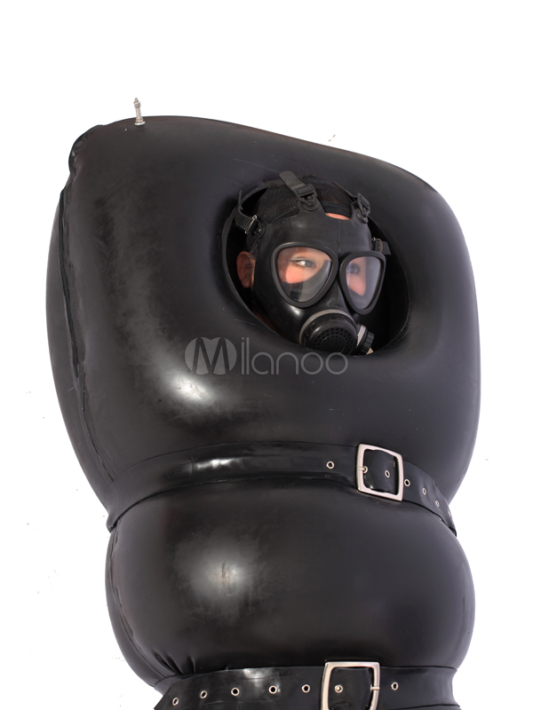 Halloween Black Unisex Trendy Air Inflation Latex Halloween