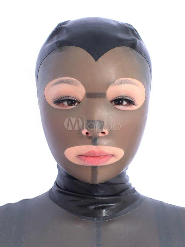 Halloween Uni Color Cut Out Unisex Latex Hoods Halloween