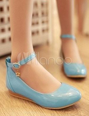 31fa71c674 ... Dedo apontado sexy couro tornozelo amarrado sapatilhas femininas-No.4  ...