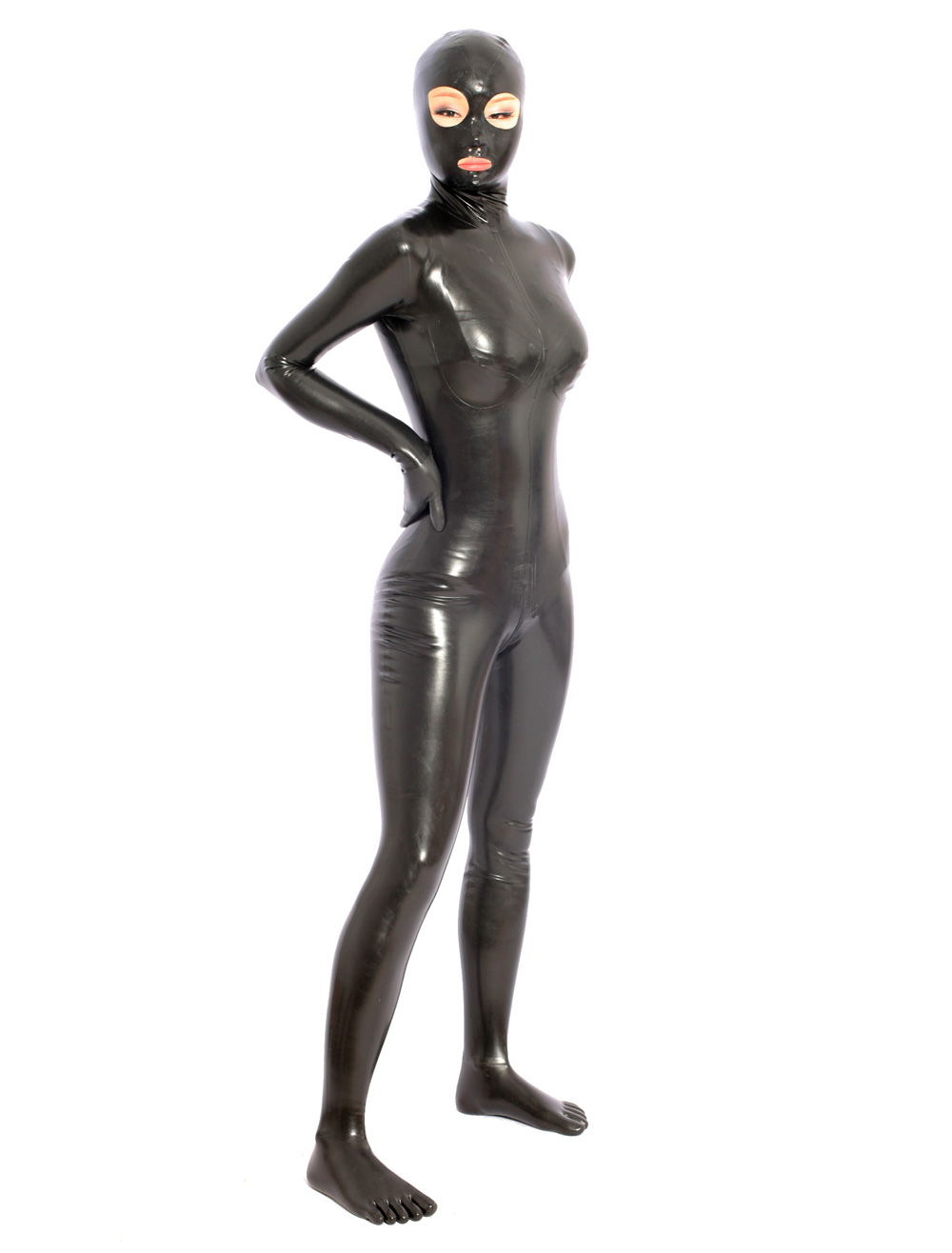 Black Latex Catsuit For Halloween Halloween