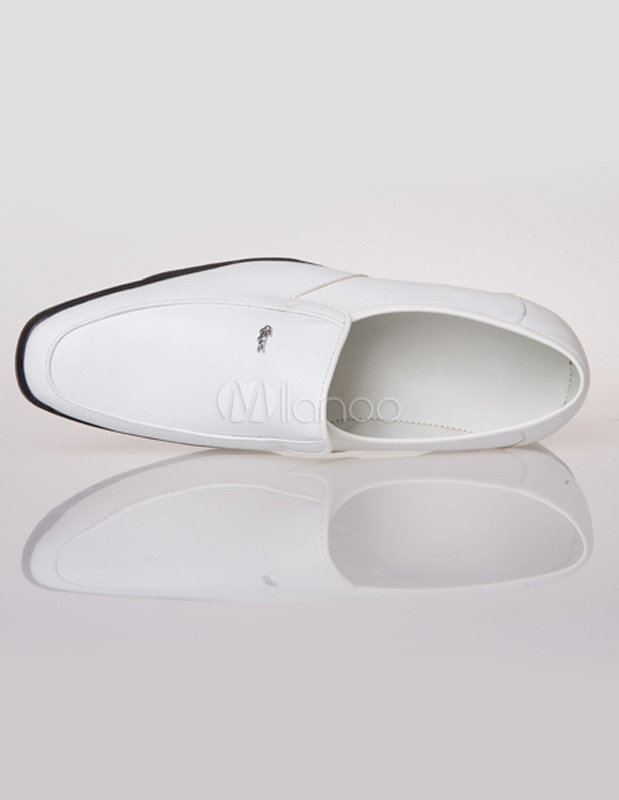 Carré Homme Vache Chaussures Peau Populaires Blanc Bout En À De DYE29eWHI