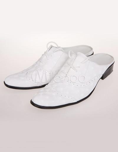 Beliebte Herren Schuhe aus Rindleder mit Schnüren ohne Fersen