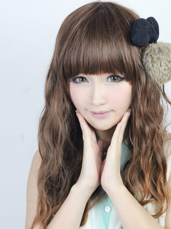 Buy Natural Olive Rayon Long Curly Beautiful Lolita Wig for $42.99 in Milanoo store